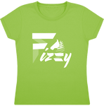t-shirt equitation fille Fizzy demi-pension cheval poney vert clair