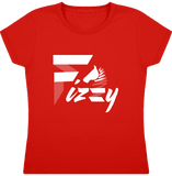 t-shirt equitation fille Fizzy demi-pension cheval poney rouge