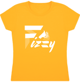 t-shirt equitation fille Fizzy demi-pension cheval poney jaune or