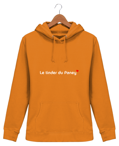 Sweat equitation femme tinder du poney orange