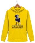 Sweat cheval femme survivante de mise en selle jaune
