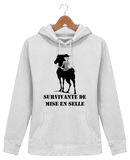 Sweat cheval femme survivante de mise en selle ash