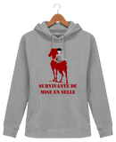 Sweat cheval femme survivante de mise en selle gris