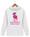Sweat cheval femme survivante de mise en selle blanc