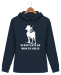 Sweat cheval femme survivante de mise en selle navy