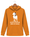 Sweat cheval femme survivante de mise en selle orange