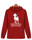 Sweat cheval femme survivante de mise en selle rouge