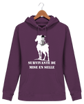 Sweat cheval femme survivante de mise en selle violet