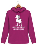 Sweat cheval femme survivante de mise en selle rose