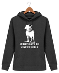 Sweat cheval femme survivante de mise en selle charcoal