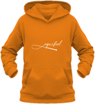 Sweat à capuche enfant cheval equifeel orange