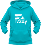 Sweat enfant Fizzy demi-pension cheval poney turquoise