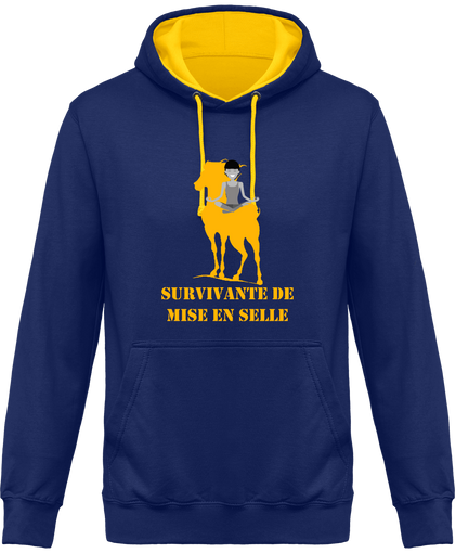sweat bicolore survivante de mise en selle