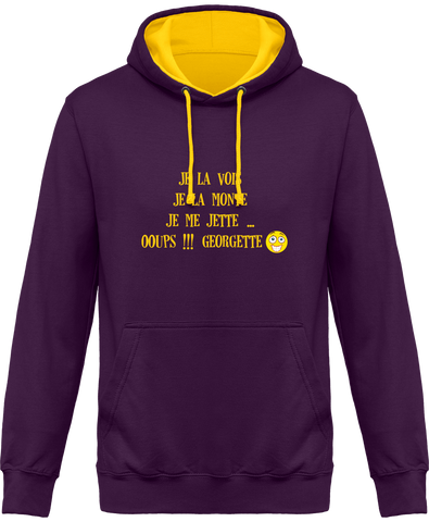 Sweat bicolore equitation cso georgette homme femme violet
