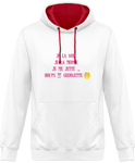 Sweat bicolore equitation cso georgette homme femme white