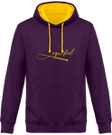 Sweat bicolore cheval equifeel homme femme violet