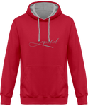 Sweat bicolore cheval equifeel homme femme rouge