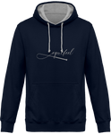 Sweat bicolore cheval equifeel homme femme navy capuche grise