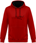 Sweat bicolore cheval equifeel homme femme red