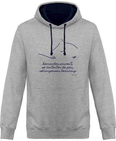 Sweat bicolore cheval citation Baucher gris