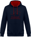 Sweat bicolore cheval citation Baucher navy