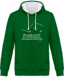 Sweat bicolore cheval citation Baucher vert