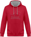 Sweat bicolore cheval citation Baucher red