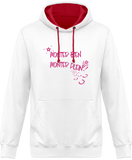 Sweat cheval bicolore monter bien monter plein blanc