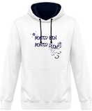 Sweat cheval bicolore monter bien monter plein white