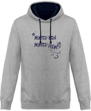 Sweat cheval bicolore monter bien monter plein gris