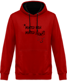 Sweat cheval bicolore monter bien monter plein rouge