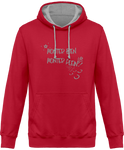 Sweat cheval bicolore monter bien monter plein red