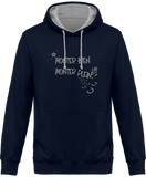 Sweat cheval bicolore monter bien monter plein navy
