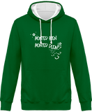 Sweat cheval bicolore monter bien monter plein vert