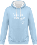 Sweat cheval bicolore monter bien monter plein bleu ciel