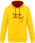 Sweat cheval bicolore monter bien monter plein jaune