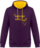 Sweat cheval bicolore monter bien monter plein violet