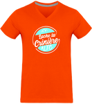 tee shirt cheval homme lache ta criniere orange