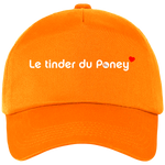 Casquette equitation Tinder du poney orange