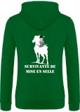 Sweat zip femme Survivante de mise en selle