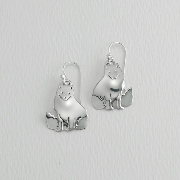Artic Fox Wire Earrings