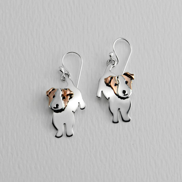 Jack Russell Terrier Wire Earrings