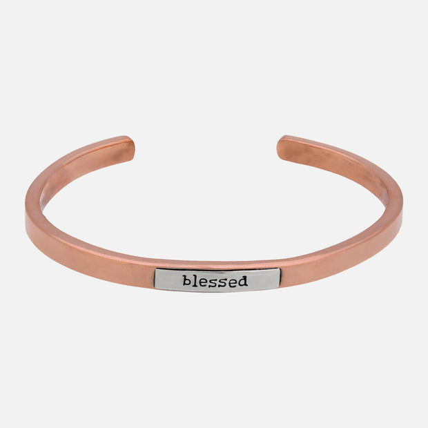 Blessed Copper And Sterling Cuff