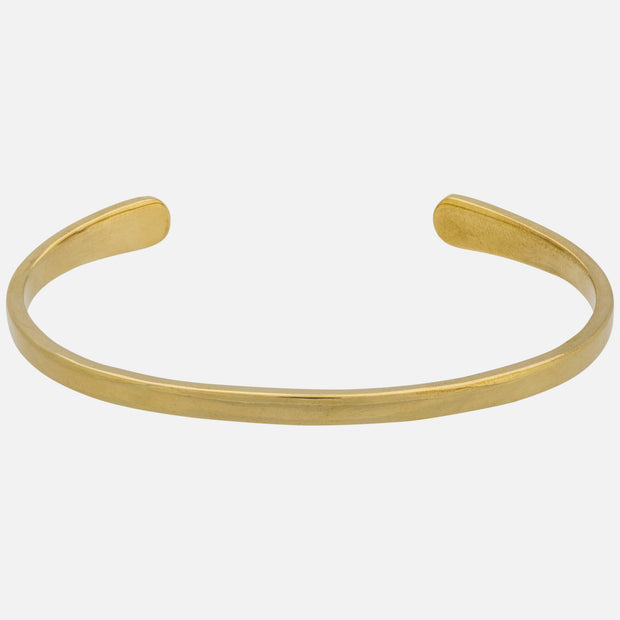 Simple Brass Cuff, Smooth