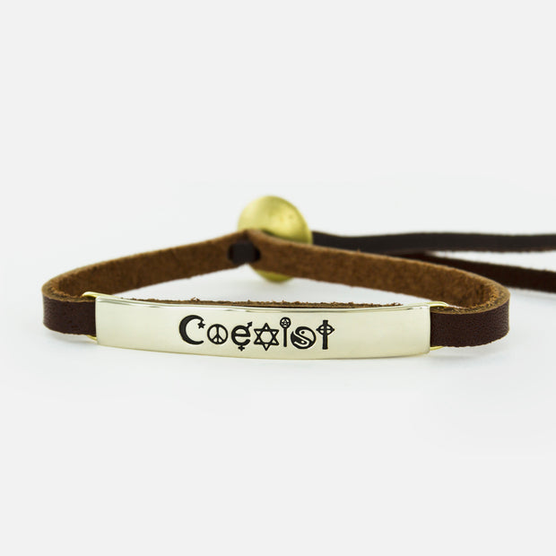Coexist Leather Bracelet