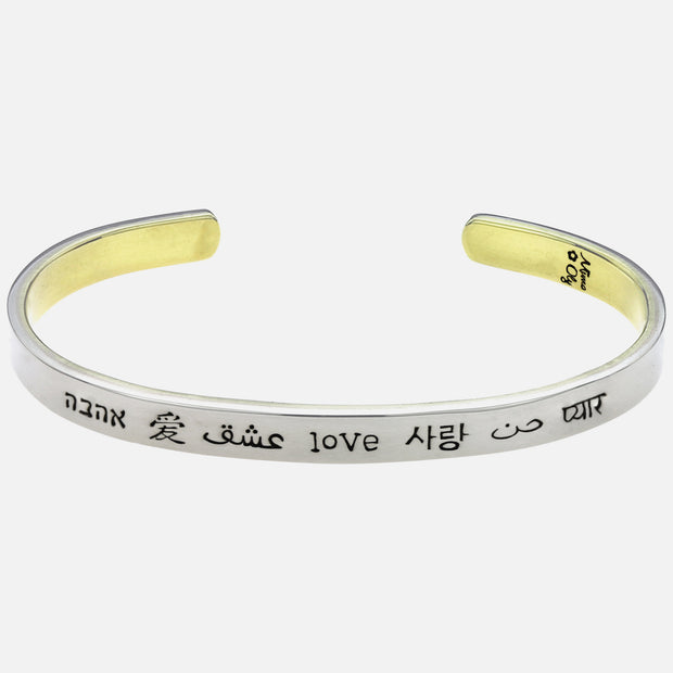 Love In Many Languages Cuff