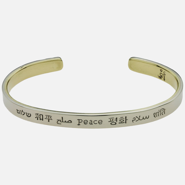 Peace In Many Languages Cuff
