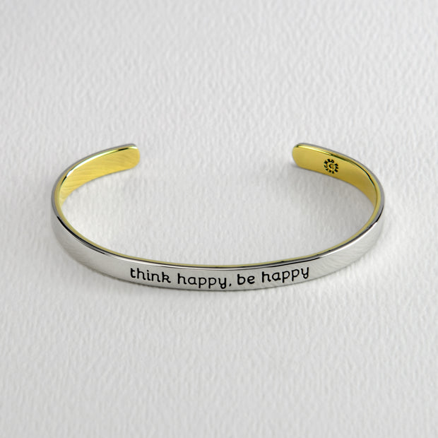 Think Happy, Be Happy Cuff