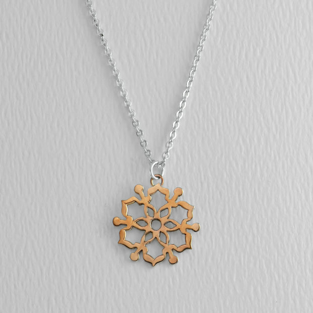 Moroccan Mandala Copper Necklace