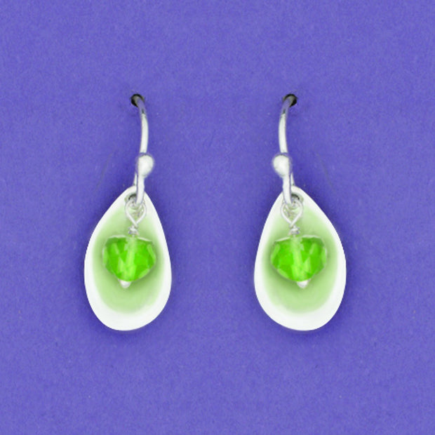 Sterling And Peridot Earwire